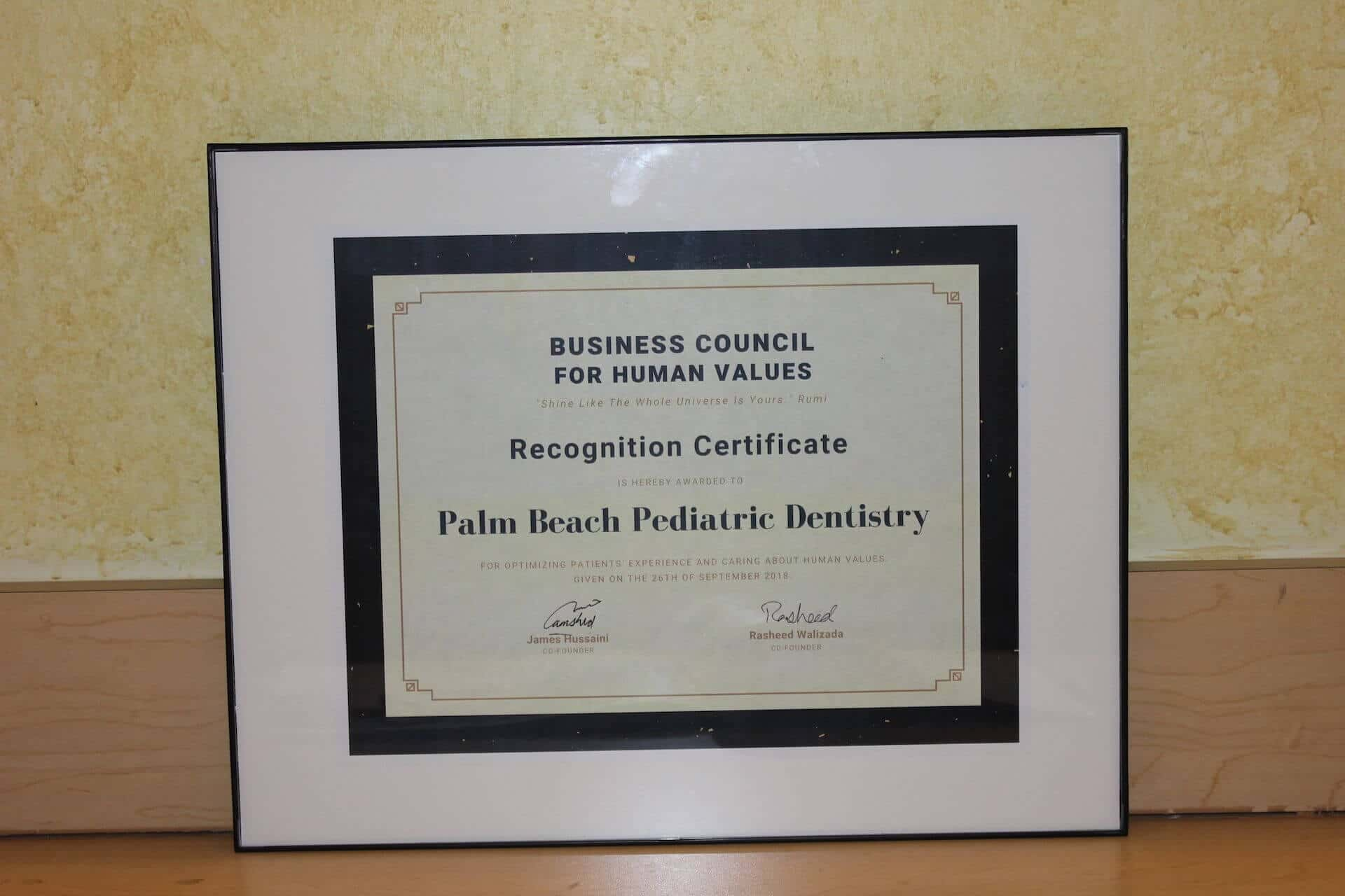 Business Council for Human Values Award